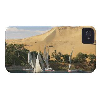 Egipto, Asuán, el río Nilo, veleros de Felucca, 2 iPhone 4 Case-Mate Protector