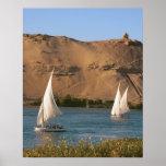 Egipto, Asuán, el río Nilo, veleros de Felucca, Impresiones