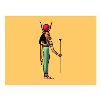 Egipto diosa Hathor egypt goddess Postales