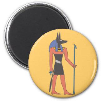 Egipto divinidad Anubis egypt deity Imán Redondo 5 Cm