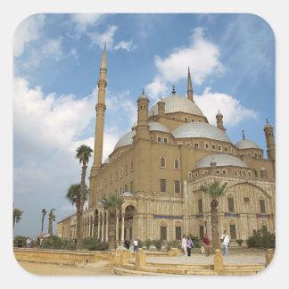 Egipto, El Cairo, ciudadela, Mohamed Ali Mosque 2 Pegatina Cuadrada