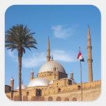 Egipto, El Cairo, ciudadela, Mohamed Ali Mosque Calcomania Cuadrada Personalizada