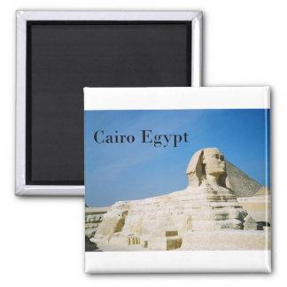 Egipto El Cairo Giza Sphinx-2 (St.K) Imán Cuadrado