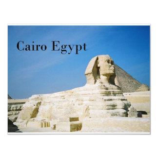 """Egipto El Cairo Giza Sphinx-2 (St.K) Invitación 4.25"""" X 5.5"""""""