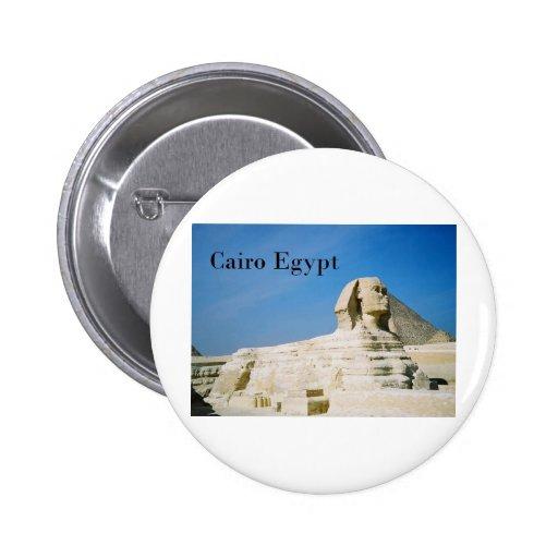 Egipto El Cairo Giza Sphinx-2 (St.K) Pin Redondo 5 Cm