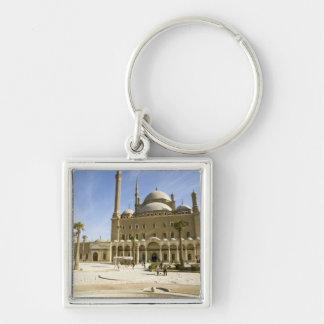 Egipto, El Cairo. La mezquita imponente de Mohamme Llavero Cuadrado Plateado