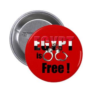 Egipto está libre de ser esposado al Pharoah Pin Redondo 5 Cm