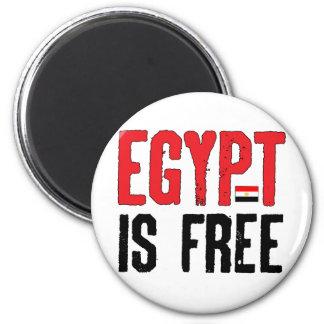 Egipto está libre imán redondo 5 cm
