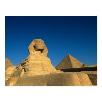Egipto, Giza, la esfinge, viejo reino, la UNESCO Tarjeta Postal