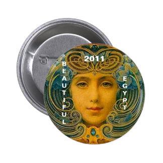 EGIPTO HERMOSO 2011 PIN REDONDO DE 2 PULGADAS