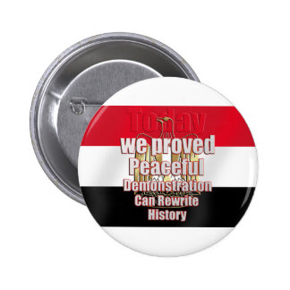 Egipto liberó por la demostración pacífica pin redondo 5 cm