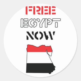 Egipto libre ahora pegatina redonda