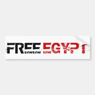 EGIPTO LIBRE PEGATINA DE PARACHOQUE