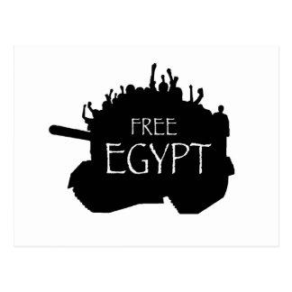 Egipto libre con los manifestantes tarjetas postales
