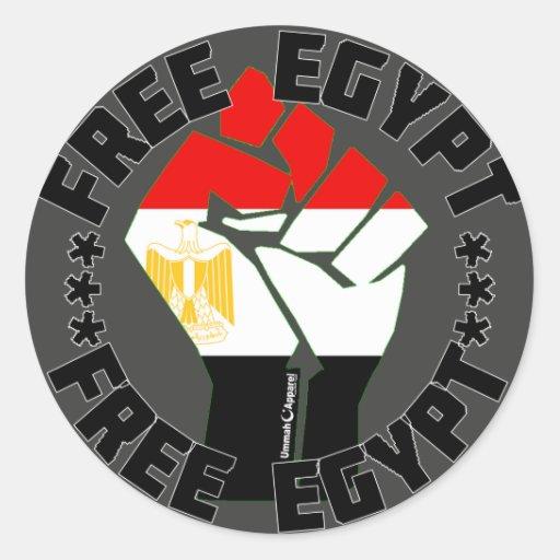 Egipto libre etiquetas redondas