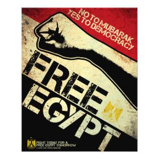 """¡Egipto libre! Folleto 4.5"""" X 5.6"""""""