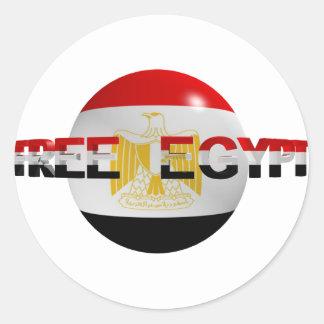 Egipto libre pegatina redonda