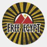 Egipto libre pegatinas redondas