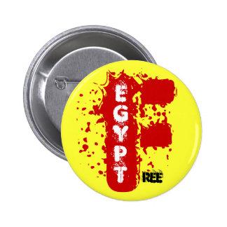 EGIPTO LIBRE PIN REDONDO DE 2 PULGADAS