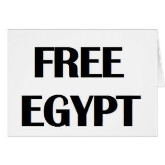 Egipto libre tarjeta de felicitación