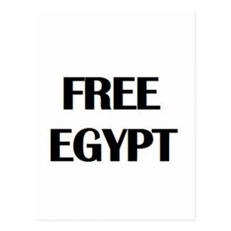 Egipto libre tarjeta postal
