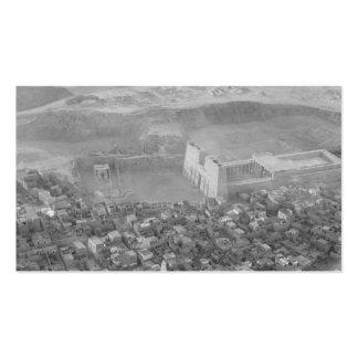 Egipto. Opinión del aire. Edfu. Templo de Horus Tarjetas De Visita