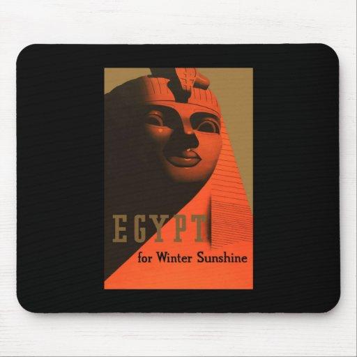 Egipto para la sol del invierno alfombrilla de ratones