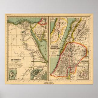 Egipto, Phoenicia y Palestina Póster