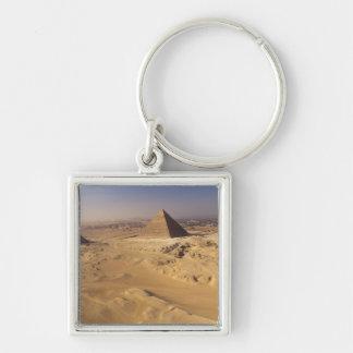 Egipto, pirámides en Giza, Khafre, Khufu, Menkaure Llaveros
