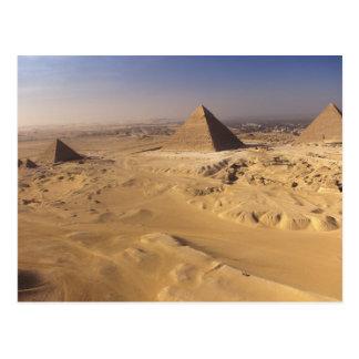 Egipto, pirámides en Giza, Khafre, Khufu, Menkaure Tarjetas Postales