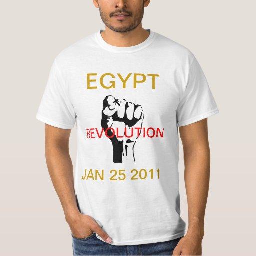 Egipto revolución 25 de enero de 2011 playera