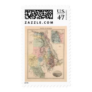 Egipto y Abyssinia Timbre Postal