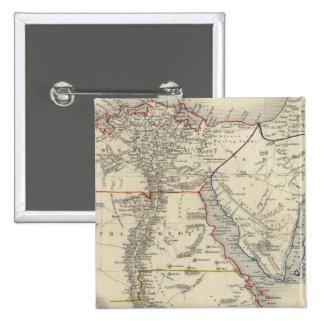 Egipto, y Arabia Petraea Pin Cuadrada 5 Cm