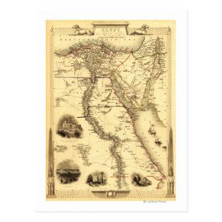 Egipto y ArabiaPanoramic MapEgypt Tarjetas Postales
