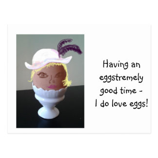 Eglantine, the Eggcentric Egg Postcard