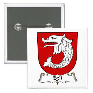 Egli Family Crest Buttons