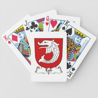 Egli Family Crest Bicycle Playing Cards