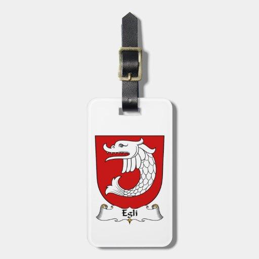 Egli Family Crest Travel Bag Tags