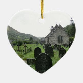 Eglwys Tydecho Sant (Llanmawddwy Parish Church) Ceramic Ornament