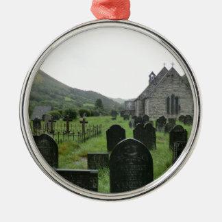 Eglwys Tydecho Sant (Llanmawddwy Parish Church) Metal Ornament