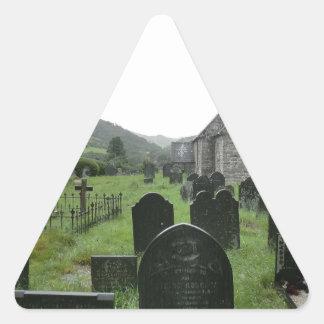 Eglwys Tydecho Sant (Llanmawddwy Parish Church) Triangle Sticker