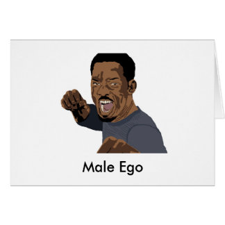 Ego masculino tarjeta pequeña