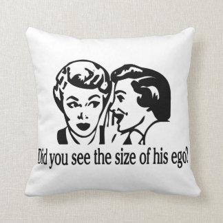 Ego Size Retro Throw Pillow