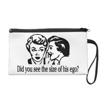 Ego Size Retro Wristlet Purse