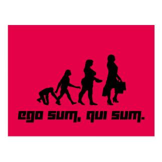 Ego sum, qui sum. 2 postcard