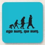 "Ego sum, qui sum. coaster<br><div class=""desc"">An abstract illustration of the evolution of the human personality.</div>"