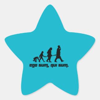 Ego sum, qui sum. star sticker