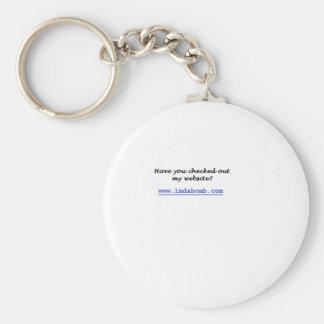 egocentric basic round button keychain