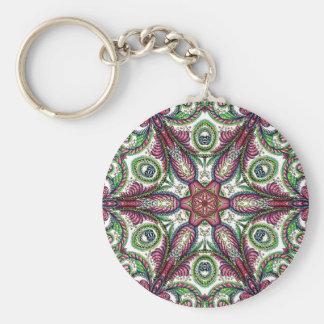 egold3.maroon and sage zen-doodle keychain