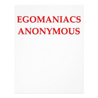 egomaniac membretes personalizados